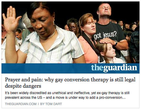 why conversion therapy continues - the guardian