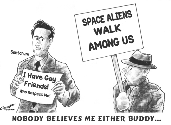 space aliens I Have Gay Friends And I Respect Their Man On Dog Love Lives...